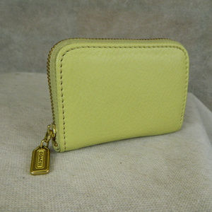 COACH Vintage Zippered Coin Purse Lime Green NEW